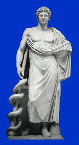 Asklepios, Greek God of Healing.